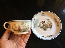 Italian Line First Class Chinois Tea Cup and Saucer by Ginori EARLY PRODUCTION