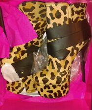 London trash LT Monsta Leopard SIZE 8. M. NEW WITH BOX. LEATHER.HIGH END shoes