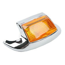 Front Fender Tip Light Chrome Orange For Harley Heritage Softail Classic FLSTC