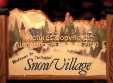 Dept 56 WELCOME TO SNOW VILLAGE POPULATION SIGN! 55155 NeW! MINT! FabULoUs!