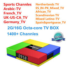 2G 16G T95K PRO TV Box With Free 1 Year IPTV 1400+ Arabic Europe US Channels