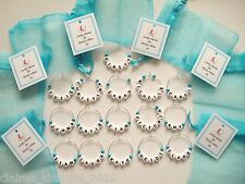 ** SPECIAL OFFER ** Hen Party/Hen Night/Wedding Favours - Name Wine Glass Charms
