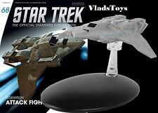 Eaglemoss Diecast Star Trek Federation Attack Fighter #68, w/Collector Magazine