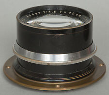 Old pre-war Schneider Xenar 4,5/300mm 30cm brass lens (Tessar)