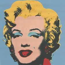 "39""x39"" MARILYN 1967 (ON BLUE GROUND) by ANDY WARHOL Repro CANVAS"