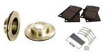 Volvo 240 front Ceramic Brake Pads and hardware Zinc coated Vented Rotors combo