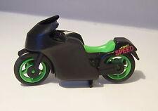 PLAYMOBIL (S209) RACING - Moto de Course Noir Vert Fluo sans Autocollant 3779
