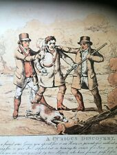 Hunting Shooting Prints Dogs Mishaps Vintage Man Trap Set Here