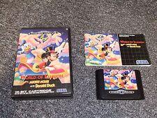 Genuine locale Mega Drive GAME-mondo illusorio-COMPLETO-TESTATO