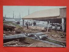 NEW ZEALAND The Birth of  Bush Settlement At The Saw Mill old postcard