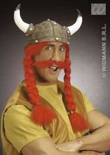 Asterix Style Obelix Helmet with Plaits and Moustache
