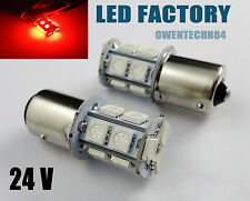 4X Red 13 SMD 1156 BA15S 1259 P21W R10W 1141 S25 LED Tail signal Light bulb 24V