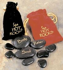 SPA HOT ROCKS HEAT IN BLACK POUCH - MASSAGE THERAPY TREATMENT RELAX MOOD 0T2010