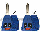 2 New Blue Replacement Keyless Remote Key Fob Case Shell Pad For: KOBDT04A
