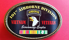 "Vietnam Veteran 101st AIRBORNE DIVISION ""SCREAMING EAGLES"" Epoxy  Buckle - NEW"