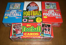 4 1990 FOOTBALL CARD UNOPENED BOXES and FACTORY SET -  FLEER -  - SCORE - TOPPS
