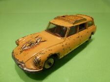LION CAR CITROEN DS SAFARI - WILD LIFE PRESERVATION - YELLOW 1:43 - GOOD COND