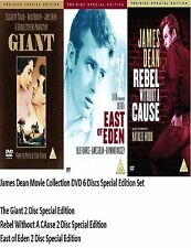 JAMES DEAN DVD Set Complete Collection East of Eden Giant Rebel without Cause