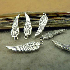 50pc Tibetan Silver Charms Small Wings Bird Accessories Bead Findings GP055