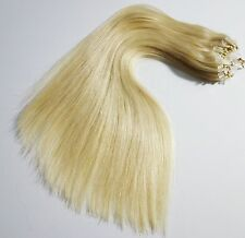 """1G Double Drawn 16"""" 18"""" 20"""" 22"""" 24"""" Easy Loop Micro Ring Human Hair Extensions"""