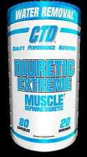 CTD SPORTS DIURETIC EXTREME WATER LOSS PILL 80 CAPS NEW DISCOUNTED LOW PRICE