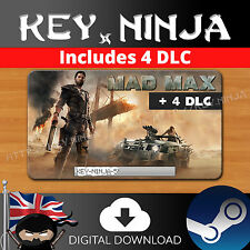 Mad max + 4 dlc/pc game/steam cd key digital download code [ue, etats-unis, au, multi]