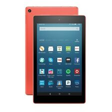 New Amazon Kindle Fire HD 8 16GB Wi-Fi 8in 6th Gen Front & Rear Camera-Tangerine