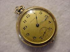 Vintage GOLD FD antique pre 1920 Art Deco WALTHAM pendant pocket watch . NR