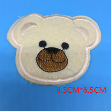 About new cute 1pcs bear cartoon embroidery clothing detail DIY sticker