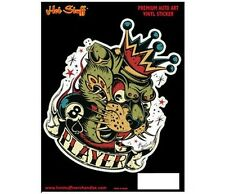 Colorful King Leopard Player Sticker - Bad Boy - Playboy - Mr Horsepower Style -