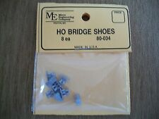 Micro Engineering HO Bridge Shoes 8 Pack  Highly Detailed Cast Metal