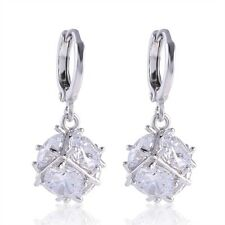 Gorgeous latest 18k white gold filled Swarovski Crystal Ball dangle earring