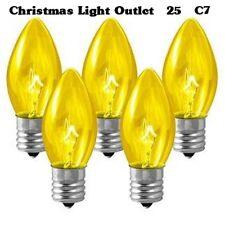 25 C7 Yellow Transparent Replacement Bulbs Xmas Lights
