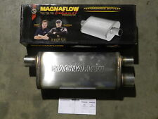 "New Magnaflow Universal Stainless Steel Muffler 12267 3"" Inlet/2.5"" Dual Outlet"