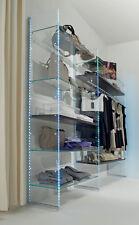 Parete attrezzata componibile vetro cristallo per negozi abbigliamento vestiti