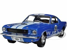 1965 FORD MUSTANG SHELBY TRIBUTE GT350R BLUE #89 1/24 BY M2 MACHINES 40300-33BL