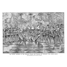 Silver Wedding of the Prince and Princess of Germany Minne Dance -Old Print 1883