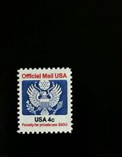 1983 4c Eagle Official Mail USA Red & Blue Scott O128 Mint F/VF NH