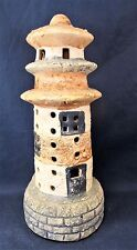 Light House hand painted ceramic votive candle holder(pre-owned)