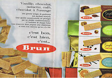 PUBLICITE ADVERTISING 084 1962 BRUN Gaufrettes Vanille chocolat noisette