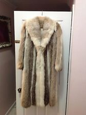 Women's coyote full length fur coat - great condition!