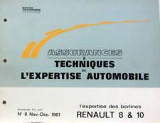 1967 RENAULT 8 ET 10   CATALOGUE DE PIECES AUTO EXPERTISE POUR ASSURANCES