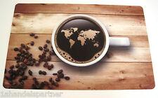 Tischset Kaffee Welt Platzdeckchen TISCHSETS PLATZ SET UNTERLAGE PLATZMATTEN