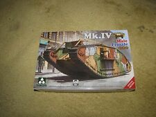 Takom 1/35 Scale WWI Heavy Battle Tank Mk.IV Male Female 2 in 1 Kit-Kit #2076