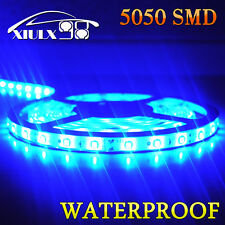 1x DIY 5M 5050 SMD Flexible LED Light Strip Tape Decor Waterproof Ultra Blue 12V