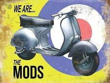 New 15x20cm VESPA We Are The Mods vintage enamel style metal advertising sign