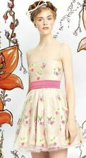 RED Valentino Flower Embroidered Tulle Dress  Size:40/2 NWT