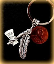 Tomahawk and Feather KEYCHAIN Jewelry  Indian style - FSU Florida State Univ.