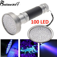 100 LED UV Blacklight Scorpion Flashlight Bright Detection Light Outdoor  a