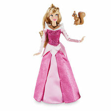 "2016 Disney Store Classic Aurora Doll with Squirrel 12"" Sleeping Beauty"